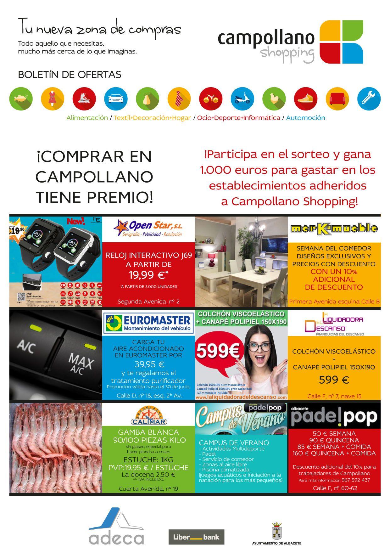 Ofertas Campollano Shopping 22 junio