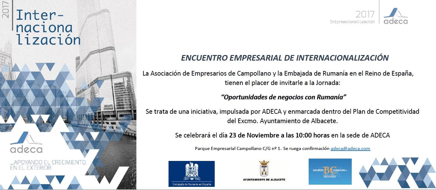 Encuentro Empresarial de Internacionalización por ADECA