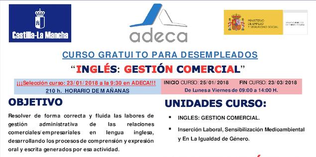 Fotografía de ADECA curso inglés gestión comercial
